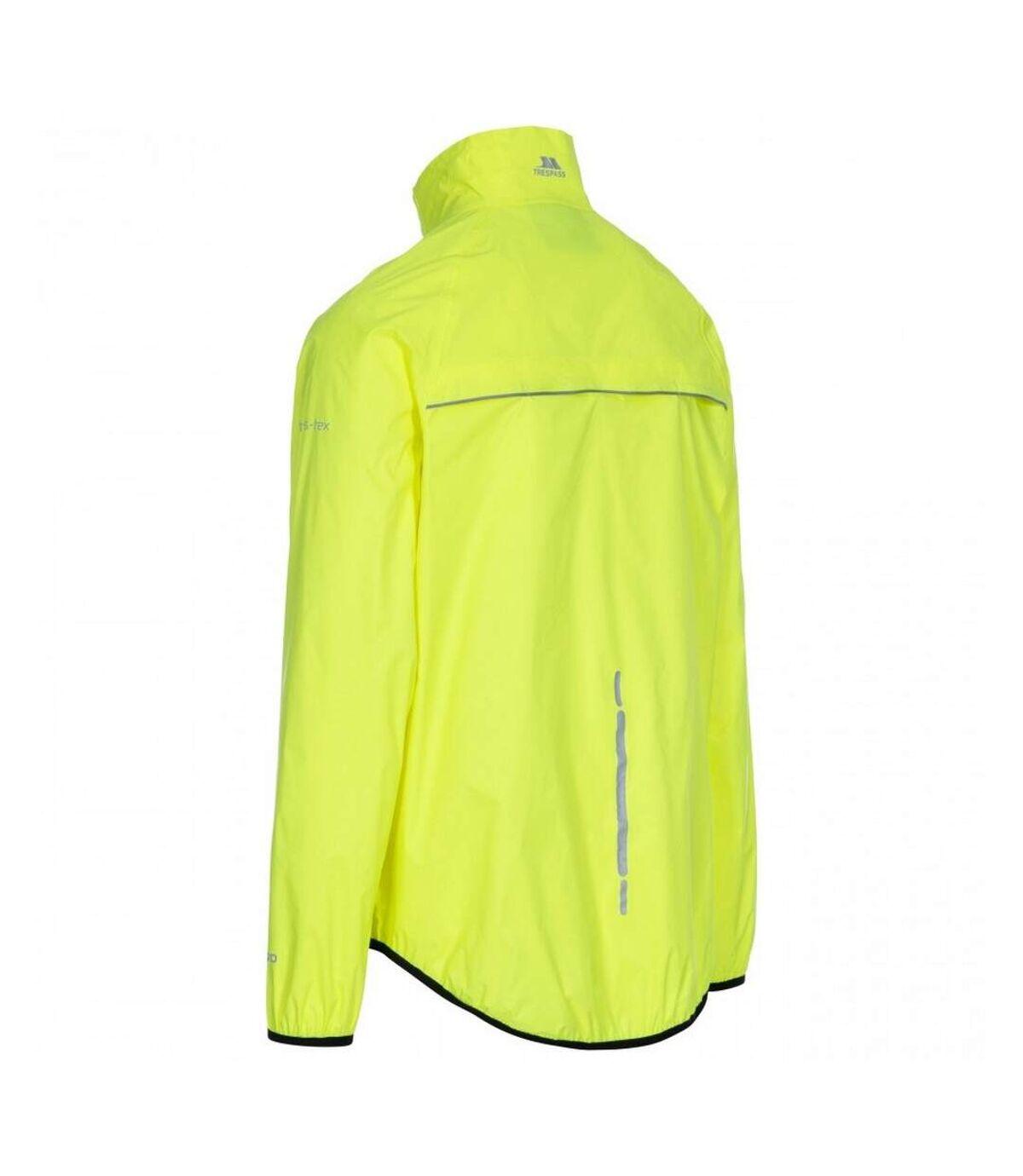 Trespass Mens Retract Hi-Vis Packaway Waterproof Jacket. (Hi Visibility Yellow) - UTTP4736