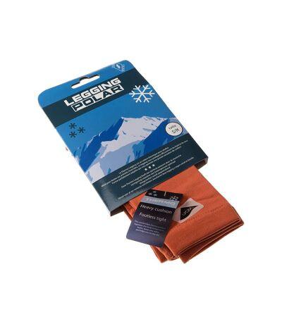 Legging chaud long - 1 paire - Unis simple - Ultra opaque - Mat - Gousset polyamide - Orange - Thermo Polar