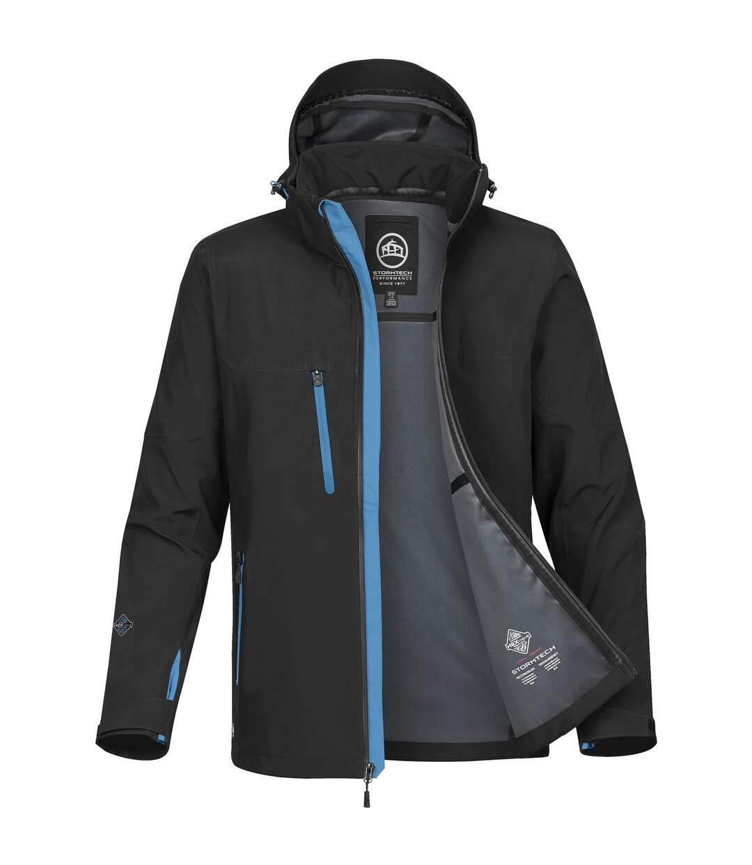 Stormtech Mens Patrol Softshell Jacket (Black/Electric Blue) - UTBC4120