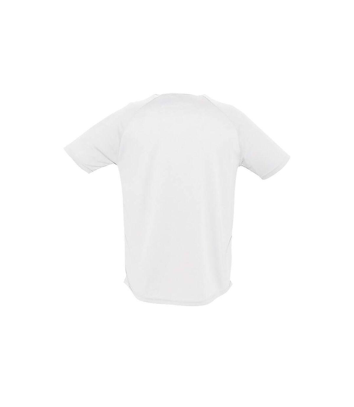 SOLS Mens Sporty Short Sleeve Performance T-Shirt (White) - UTPC303
