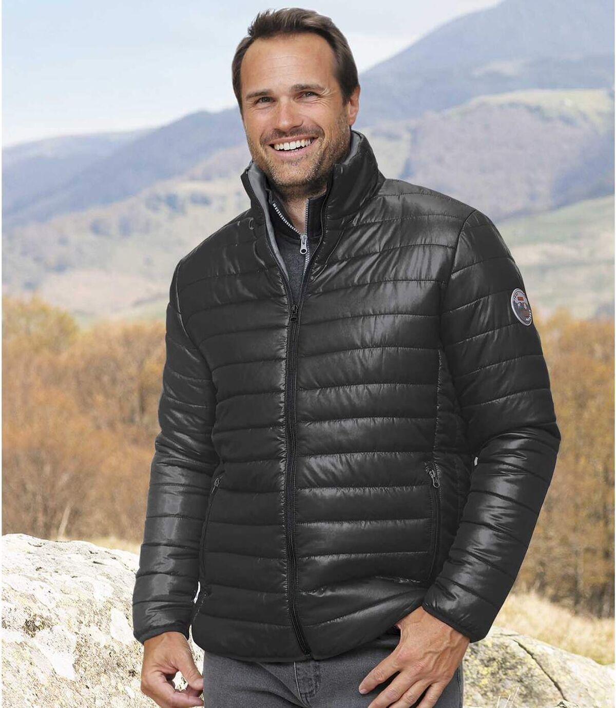 Men's Pack of 2 Lightweight Atlas For Men® Puffer Jackets - Black Navy Atlas For Men