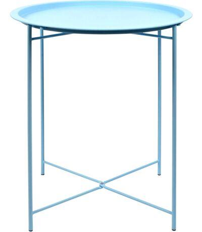 Table d'appoint en acier nuances de bleu