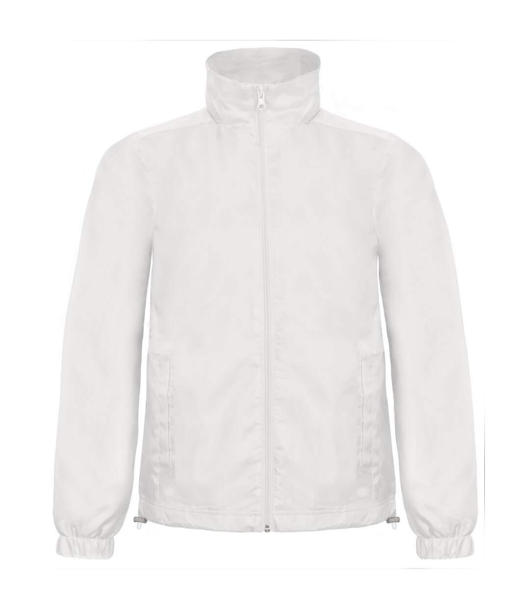 B&C Mens ID.601 Hooded Showerproof Windbreaker Jacket (Black) - UTRW3524
