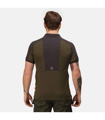 Regatta Mens Offensive Wicking Polo Shirt (Dark Khaki) - UTRG3572