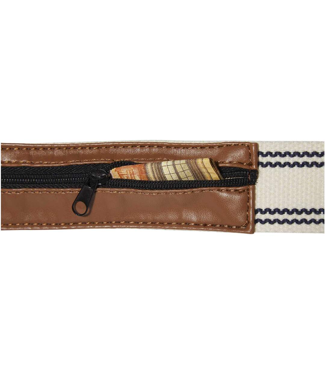 Men's Canvas Belt with Money Pocket