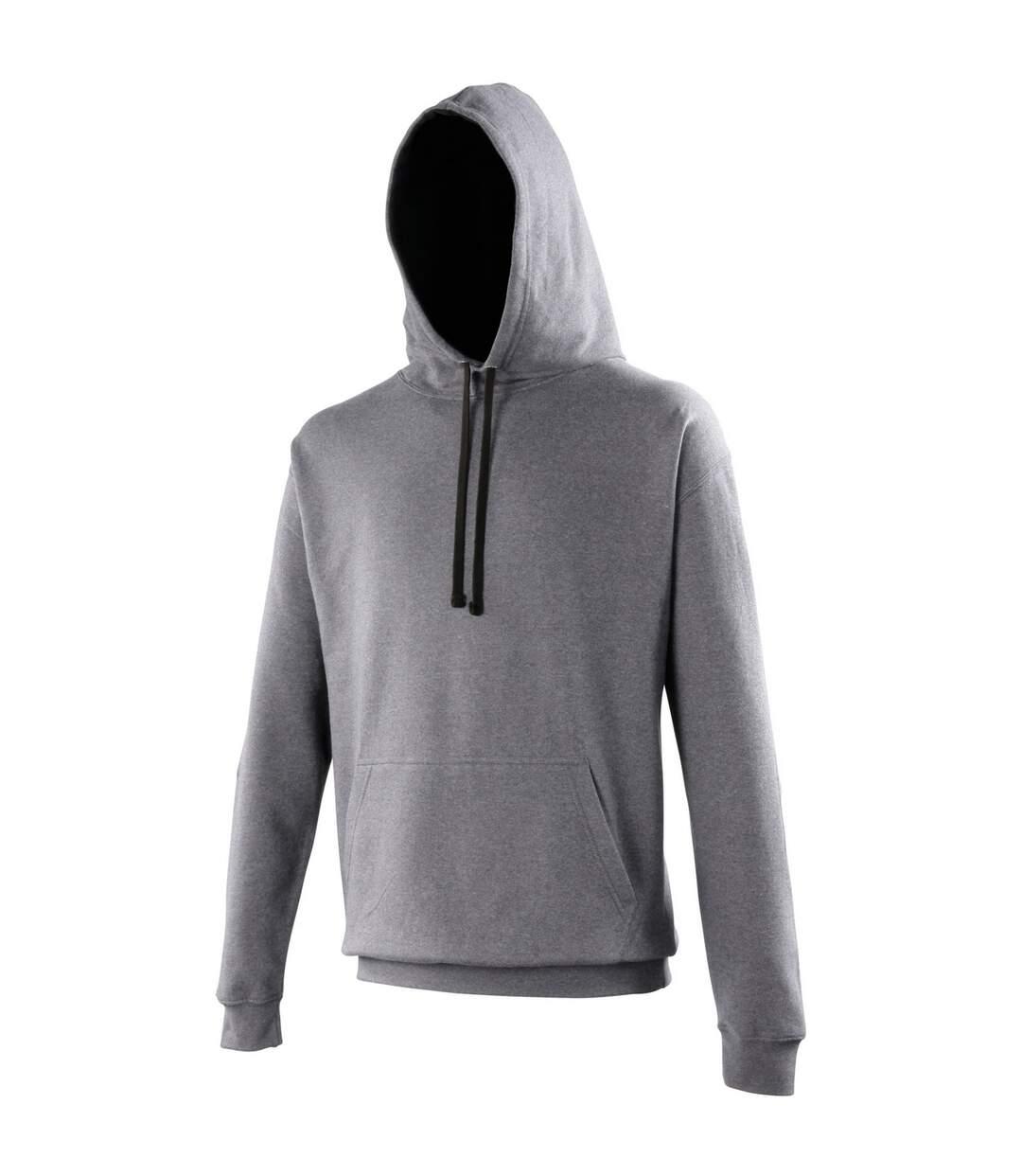 Awdis Varsity Hooded Sweatshirt / Hoodie (Oxford Navy/ Hawaiian Blue) - UTRW165