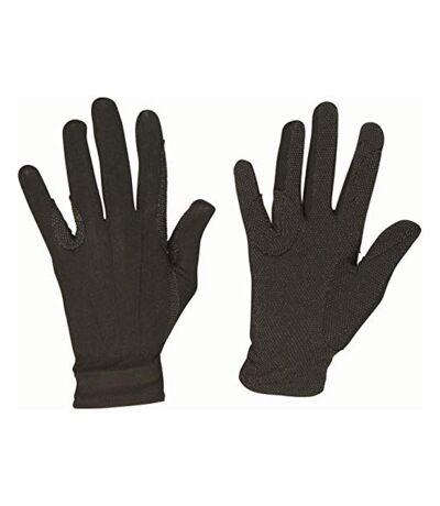 Dublin Unisex Everyday Deluxe Track Riding Gloves (Black) - UTWB490
