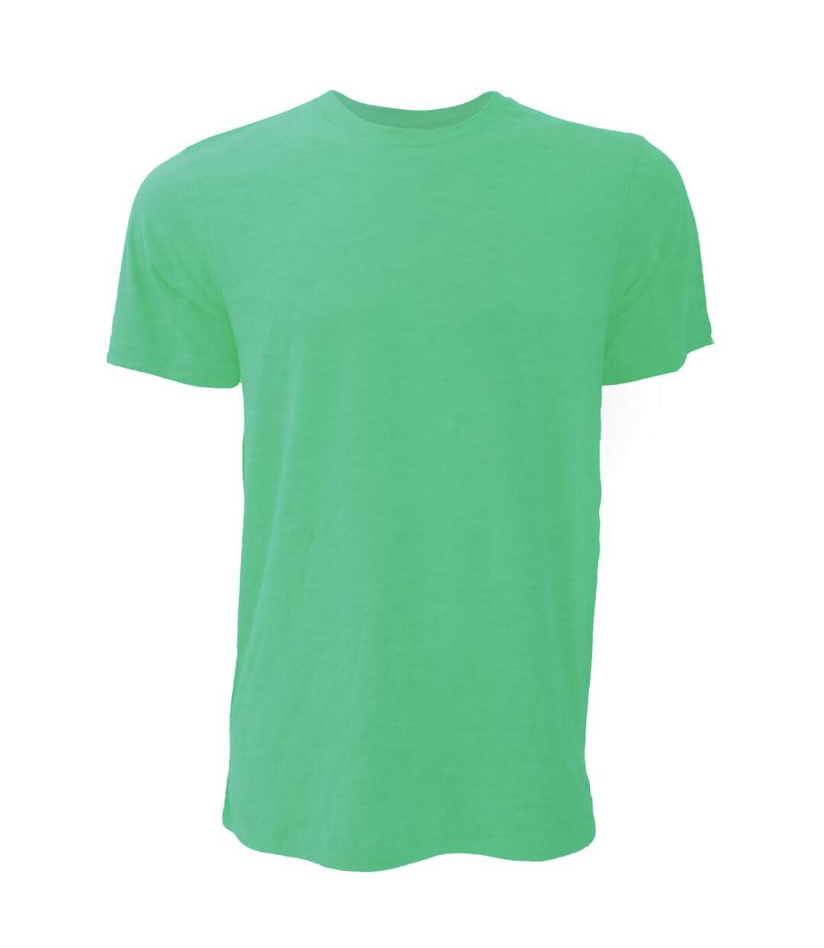 Canvas Unisex Jersey Crew Neck T-Shirt / Mens Short Sleeve T-Shirt (Heather Kelly Green) - UTBC163