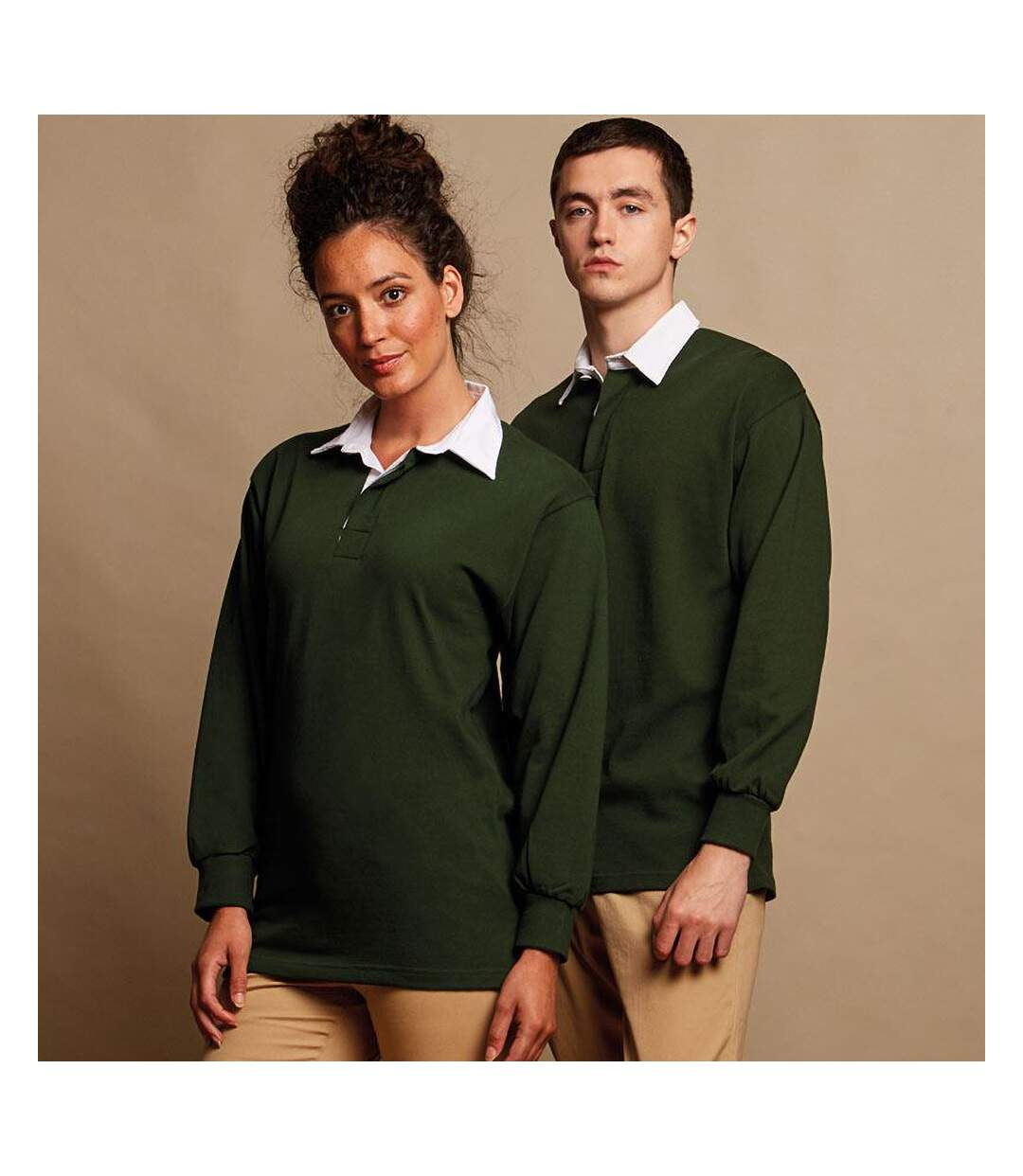 Front Row Mens Long Sleeve Sports Rugby Shirt (Bottle Green) - UTRW473