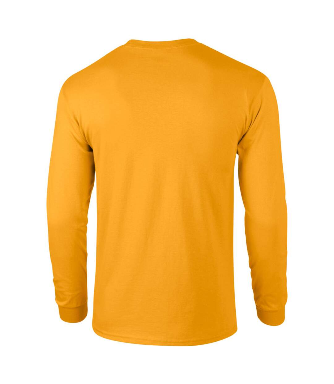 Gildan Mens Plain Crew Neck Ultra Cotton Long Sleeve T-Shirt (Safety Orange) - UTBC477