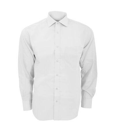 Kustom Kit - Chemise à manches longues sans repassage - Homme (Blanc) - UTBC597