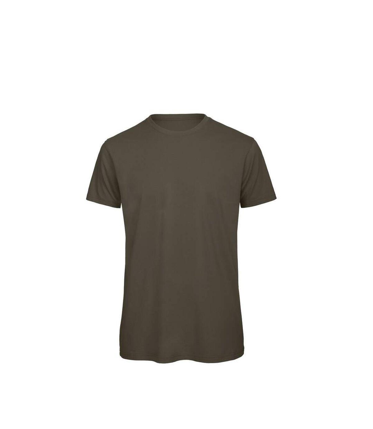 B&C Mens Favourite Organic Cotton Crew T-Shirt (Khaki) - UTBC3635