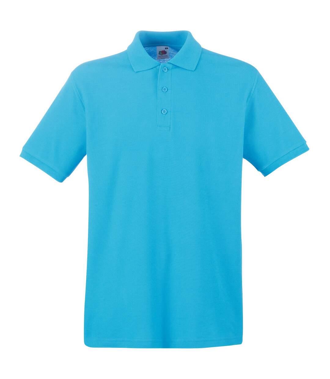 Fruit Of The Loom Premium Mens Short Sleeve Polo Shirt (Black) - UTBC1381