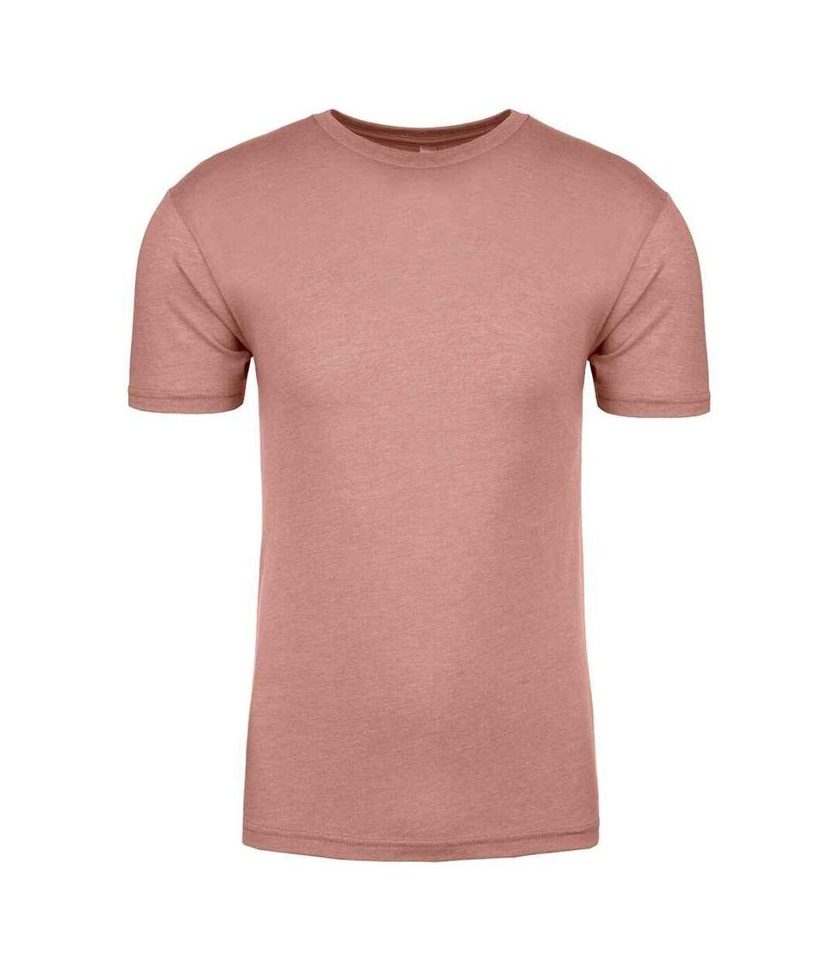 Next Level Mens Tri-Blend Crew Neck T-Shirt (Desert Pink) - UTPC3491