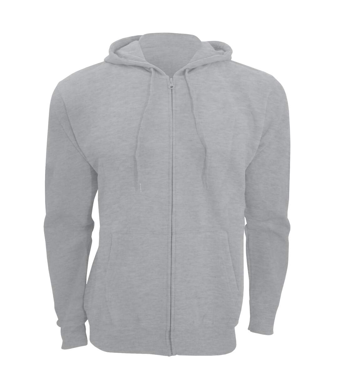 SOLS Mens Seven Full Zip Hooded Sweatshirt / Hoodie (Grey Marl) - UTPC340