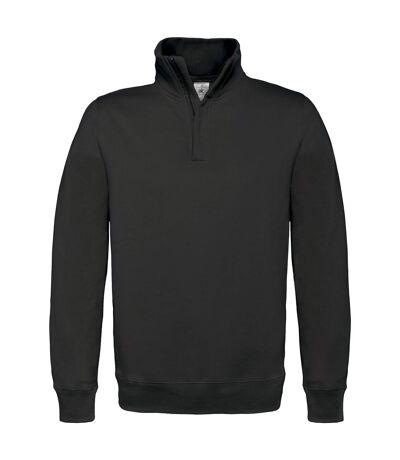 B&C Mens ID.004 1/4 Zip Sweatshirt (White) - UTRW3028