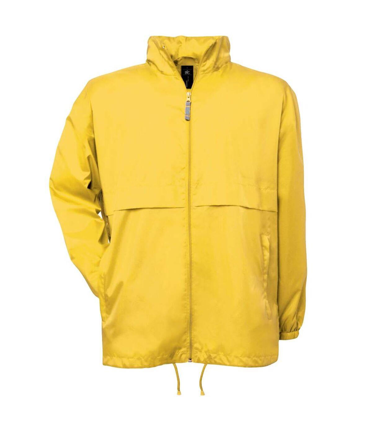 B&C Mens Air Lightweight Windproof, Showerproof & Water Repellent Jacket (Very Yellow) - UTBC1281