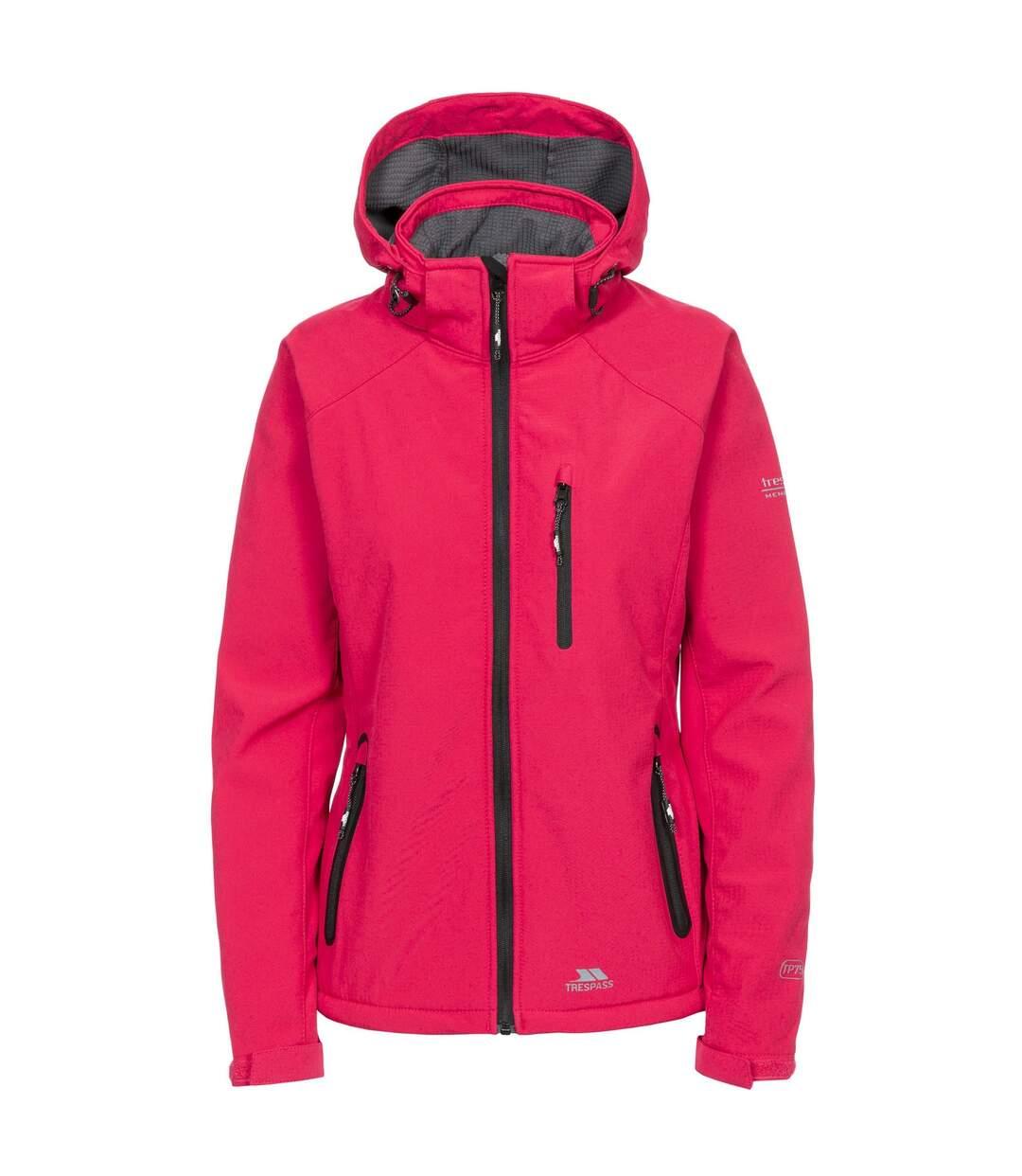 Trespass Womens/Ladies Bela II Waterproof Softshell Jacket (Raspberry) - UTTP3440