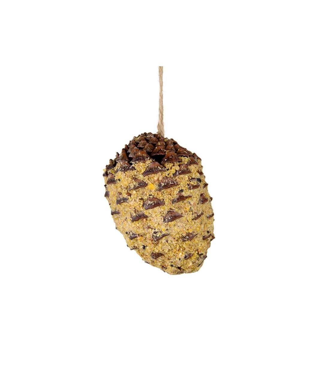 Pomme de pin avec de graines à suspendre