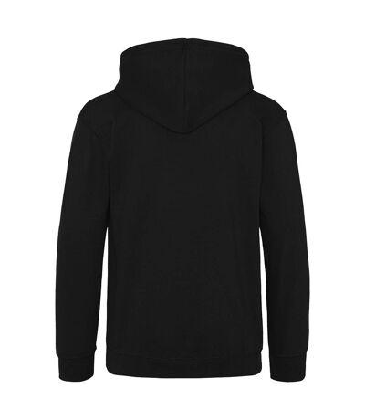 Awdis Mens Varsity Hooded Sweatshirt / Hoodie / Zoodie (New French Navy/Heather Grey) - UTRW182