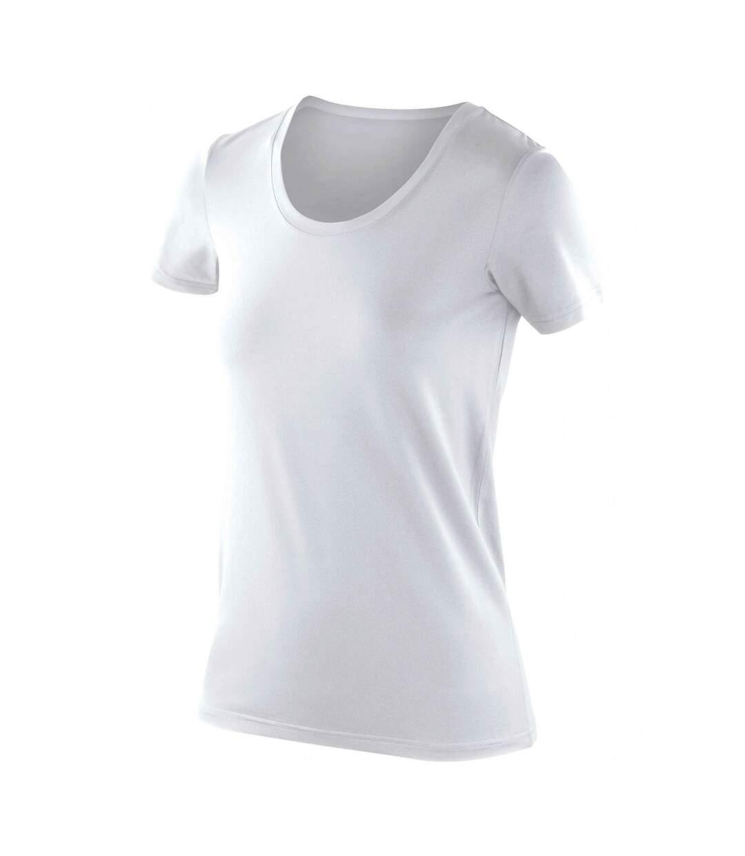 Spiro - T-Shirt À Stretch À Manches Courtes - Femme (Blanc) - UTRW5169