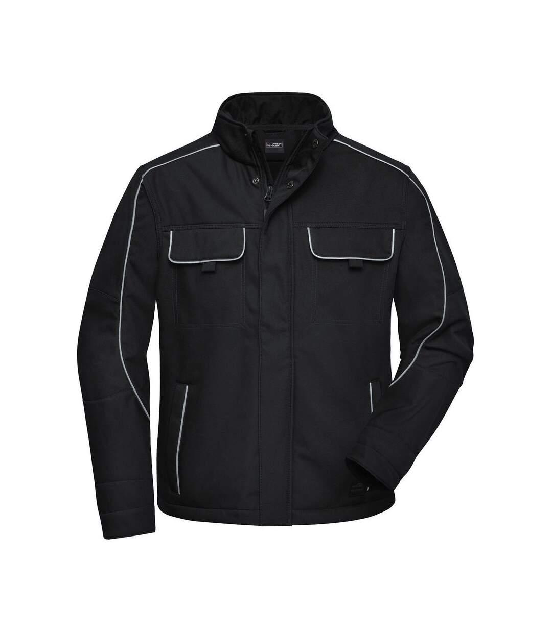 Veste blouson de travail légère softshell mixte - JN884 - noir