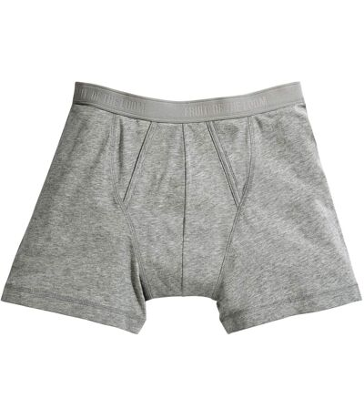 Fruit Of The Loom Mens Classic Boxer Shorts (Pack Of 2) (Light Grey Marl) - UTBC3358