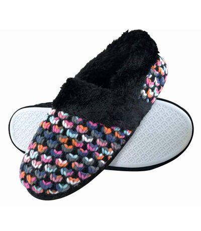 Dunlop Ladies Wide Fit Memory Foam Velcro Slippers