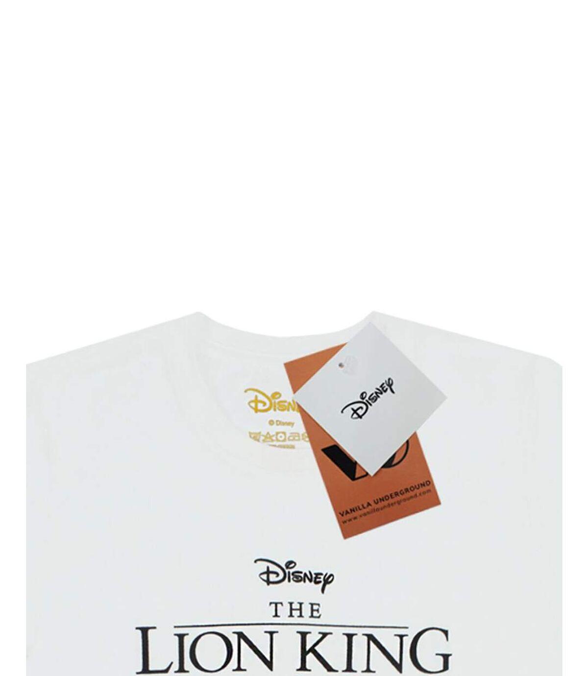 The Lion King Mens Circle Of Life Simba T-Shirt (White) - UTNS5589