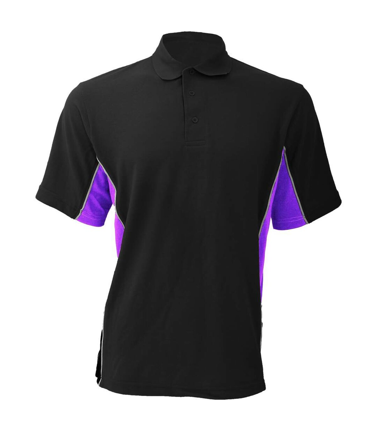 Gamegear® Mens Track Pique Short Sleeve Polo Shirt Top (Black/Orange/White) - UTBC412