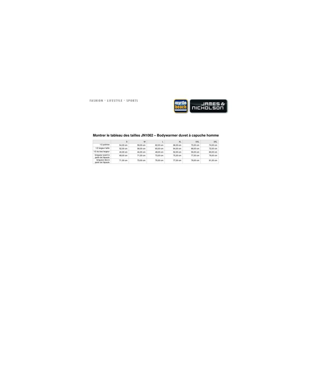 Bodywarmer duvet doudoune sans manches anorak homme - JN1062 - orange