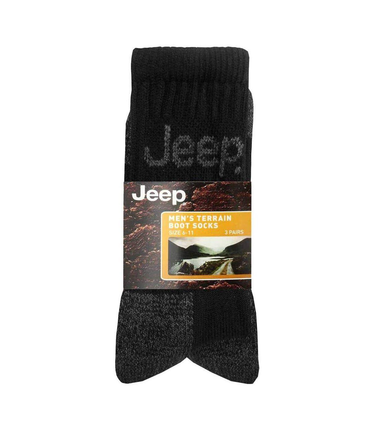 Mens 3 Pk Jeep Terrain Cushion Sole Hiking Socks