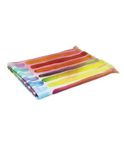 Drap de plage Fouta 100x180 cm 100% coton 270 g/m² AURISINA Traits multicolore
