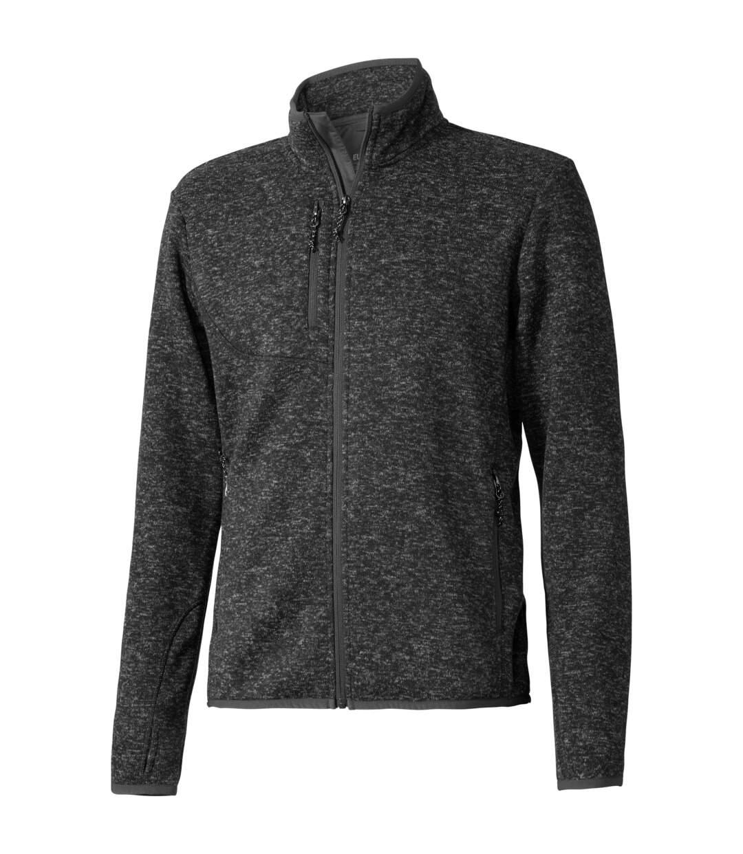 Elevate Mens Tremblant Knit Jacket (Heather Smoke) - UTPF1954