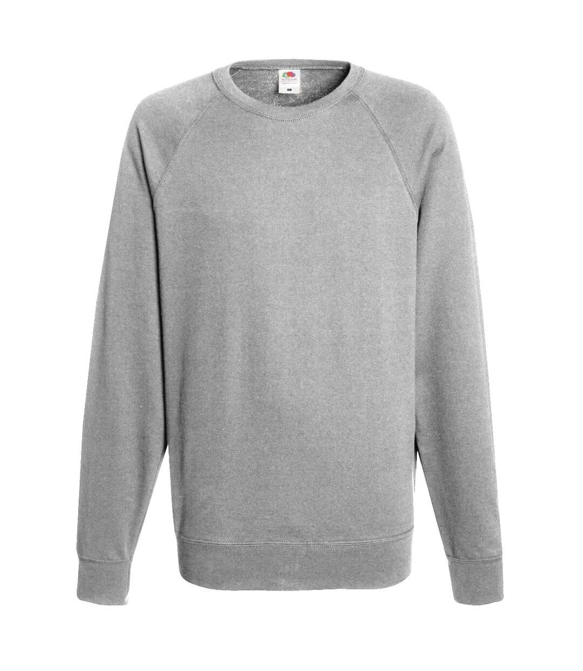 Fruit Of The Loom Mens Lightweight Raglan Sweatshirt (240 GSM) (Heather Grey) - UTBC2653