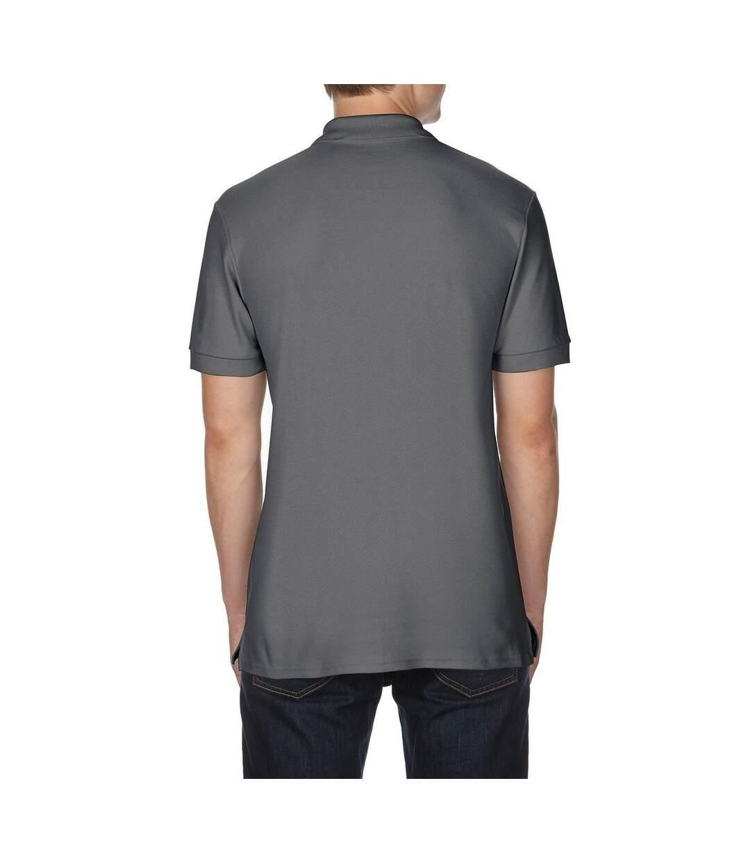 Gildan Mens Premium Cotton Sport Double Pique Polo Shirt (Charcoal) - UTBC3194