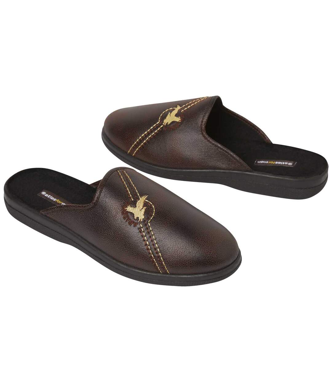 Pantofle zumělého semiše zateplené fleecem