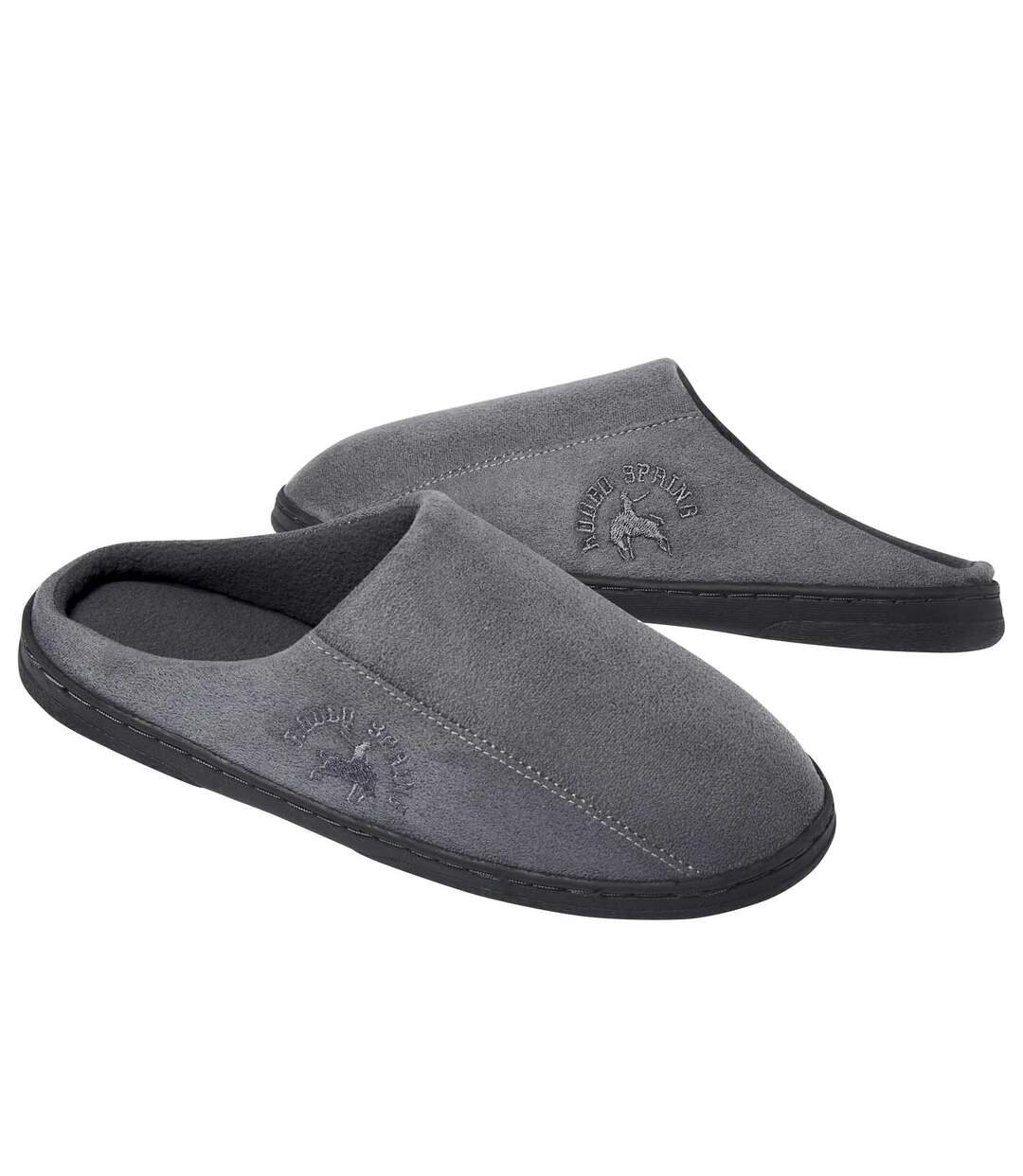 Men's Grey Comfort Mules
