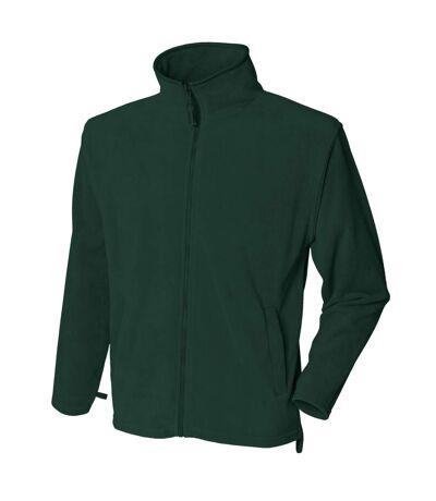 Henbury Mens Microfleece Anti-Pill Jacket (Green) - UTRW678