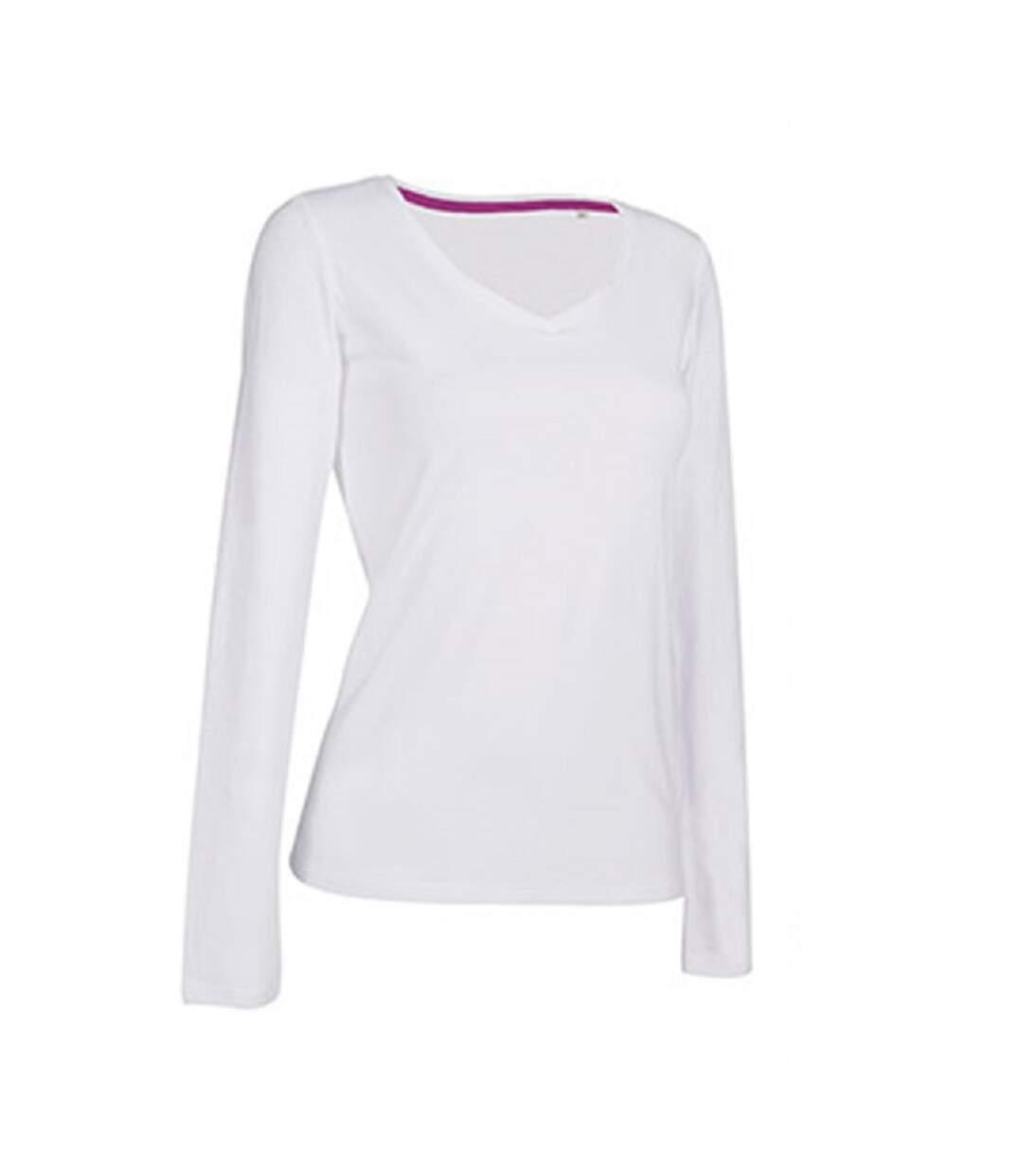Stedman - T-Shirt À Manches Longues Claire - Femme (Blanc) - UTAB392
