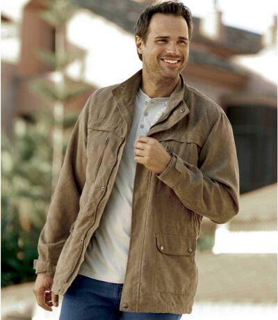Men's Brown Safari Full Zip Jacket