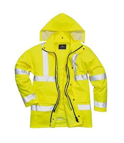Portwest Mens Hi-Vis 4-In-1 Traffic Jacket (Yellow) - UTPC2856