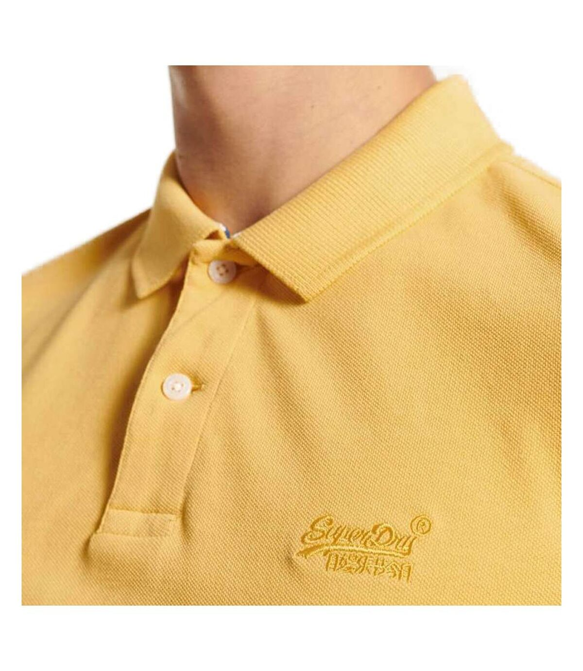 Polo Jaune Homme Superdry Vintage