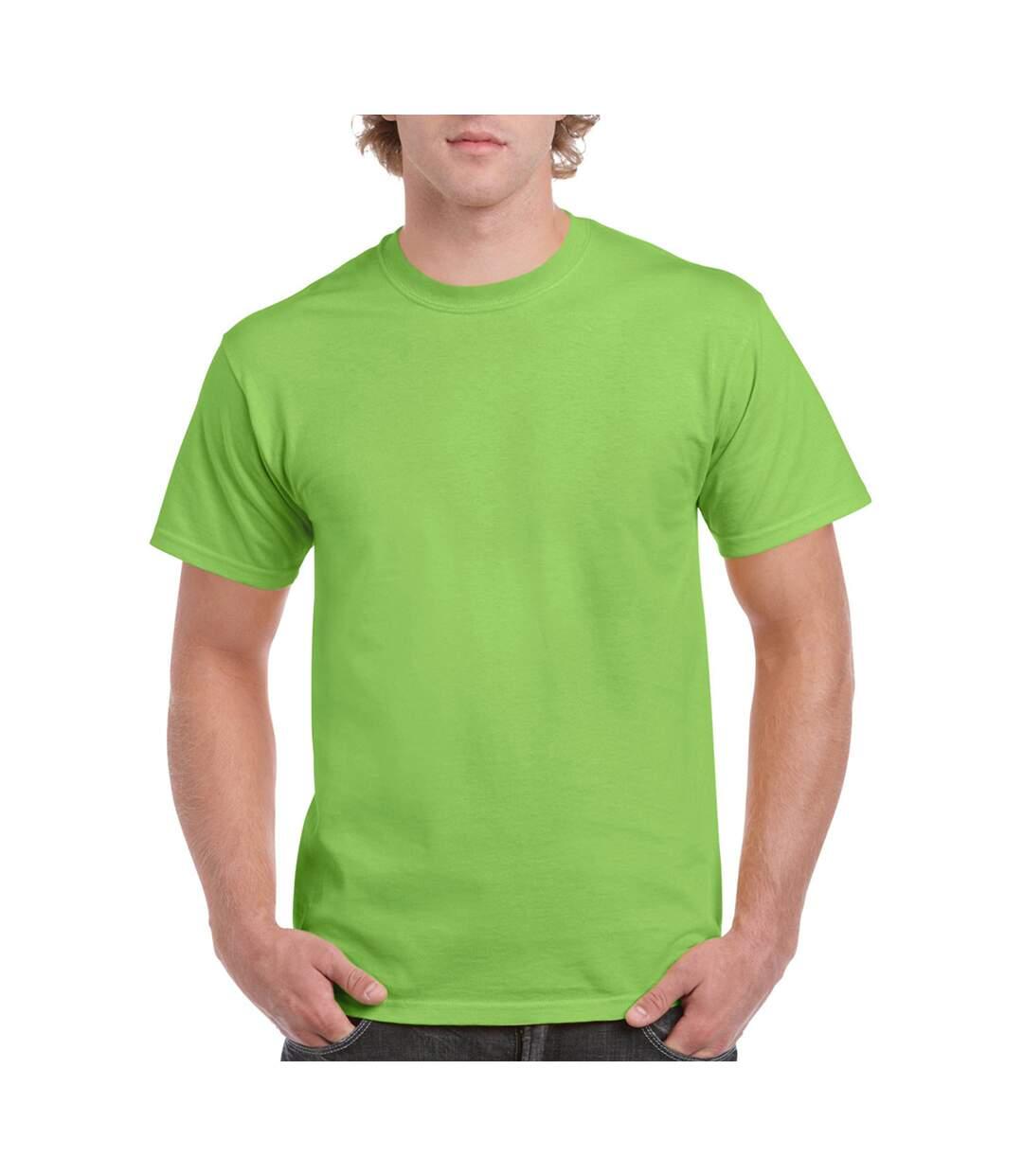 Gildan Mens Ultra Cotton Short Sleeve T-Shirt (Lime) - UTBC475