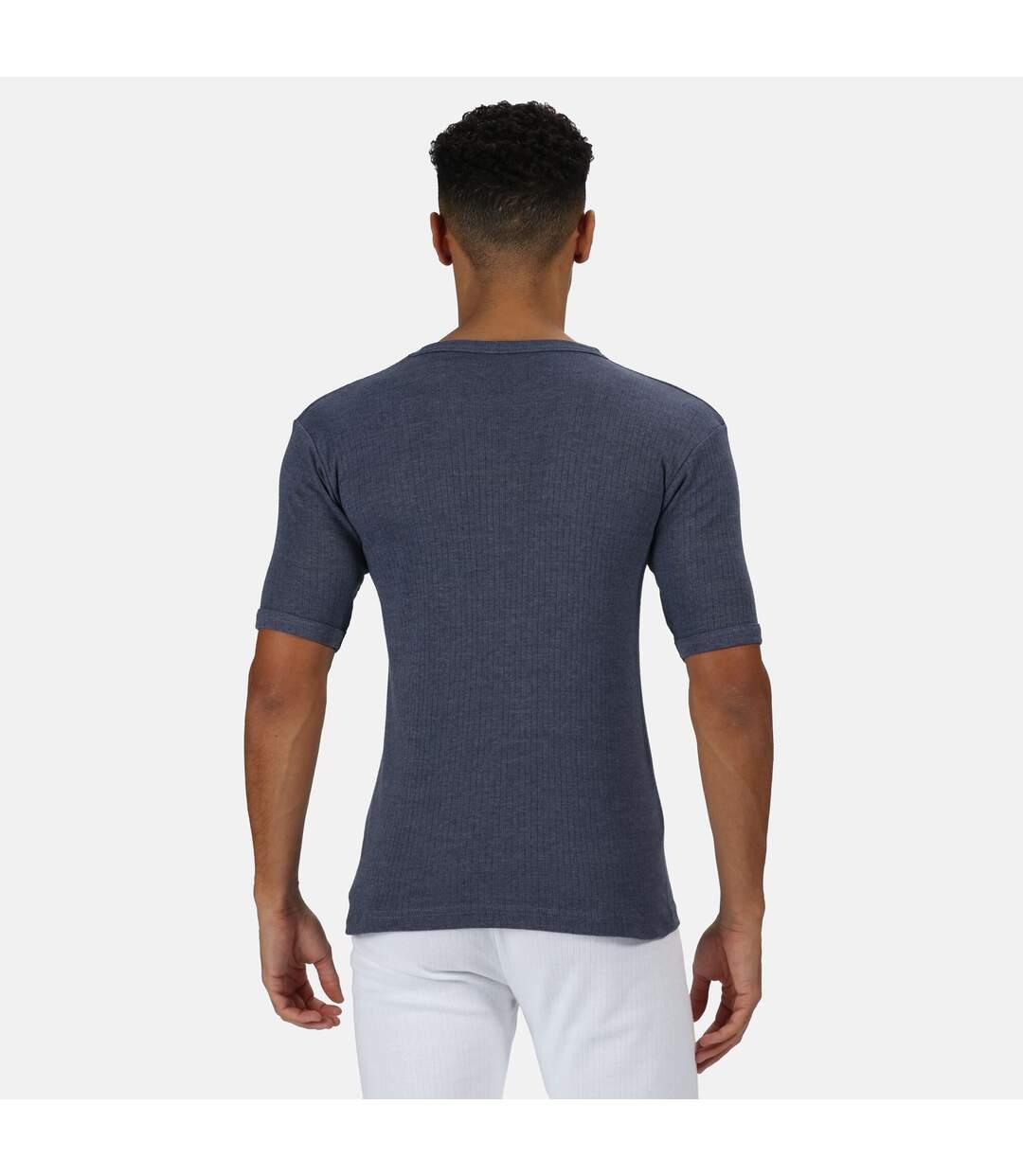 Regatta Mens Thermal Underwear Short Sleeve Vest / T-Shirt (Denim Blue) - UTRG1427