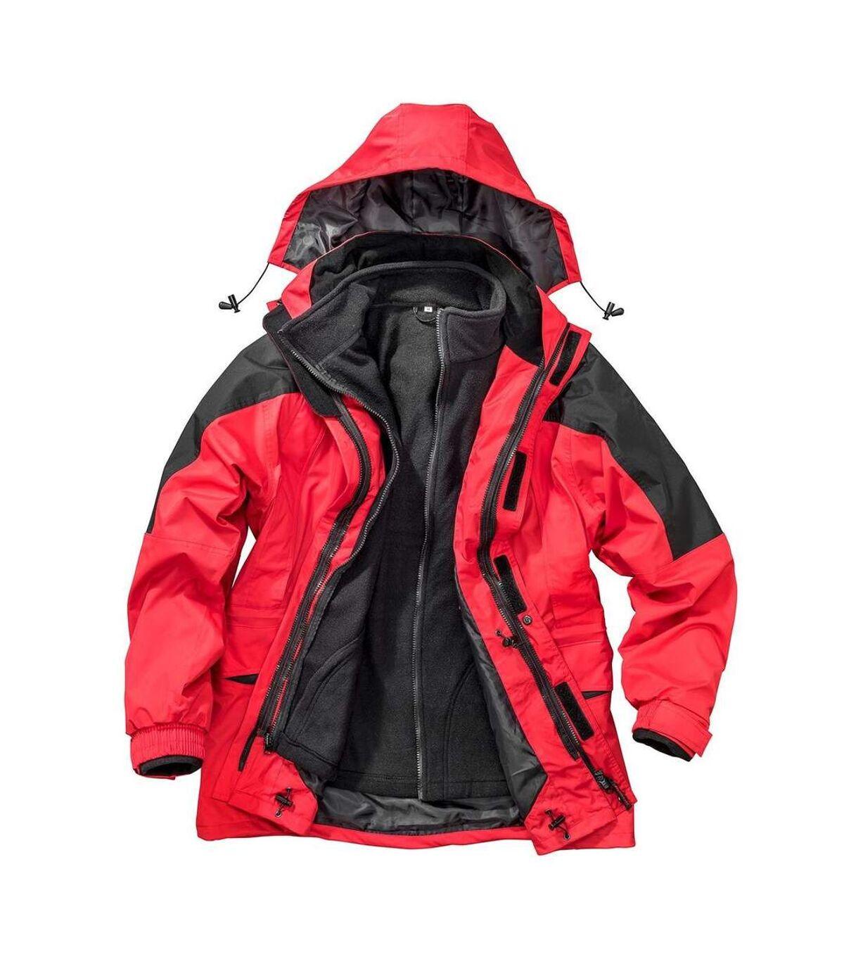Parka pour Homme 3 en 1 - R099X - rouge