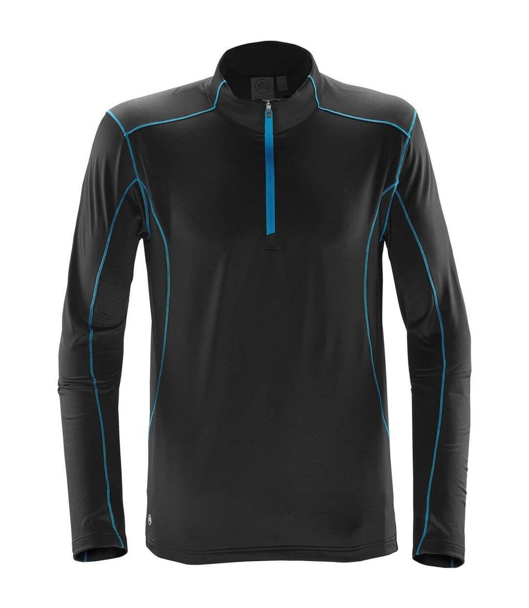 Stormtech Mens Pulse Fleece Pullover (Black/Electric Blue) - UTBC4121