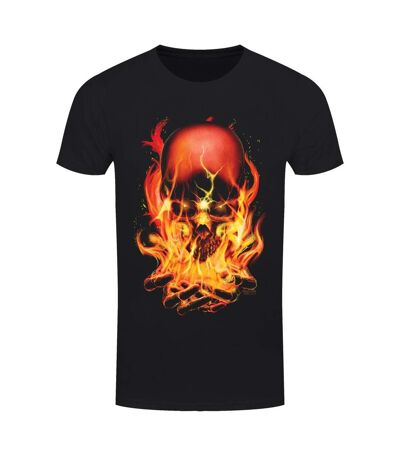 Requiem Collective Mens Hellfire T-Shirt (Black/Orange) - UTGR3739
