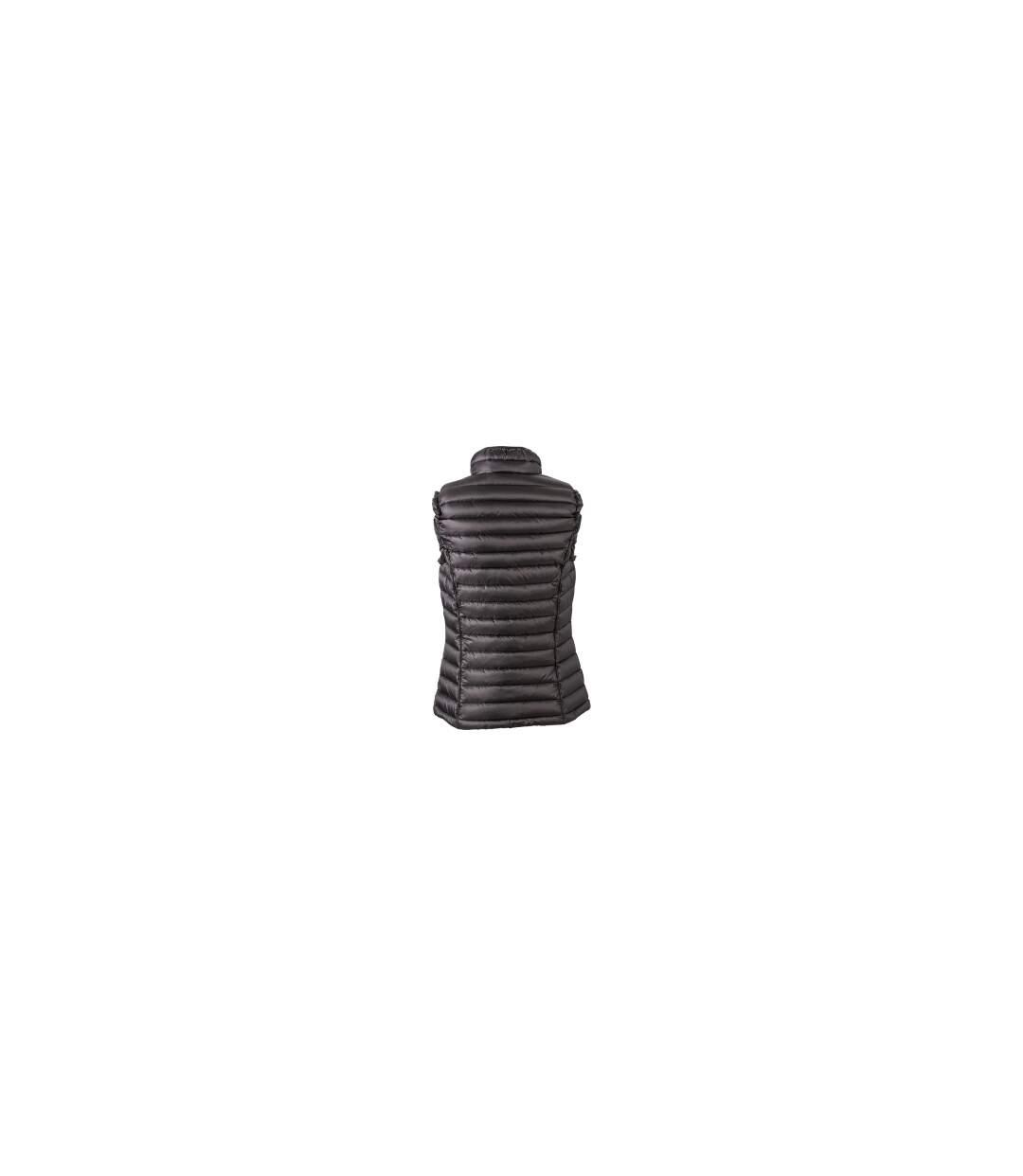 Gilet sans manches matelassé duvet FEMME - JN1079 noir - doudoune anorak