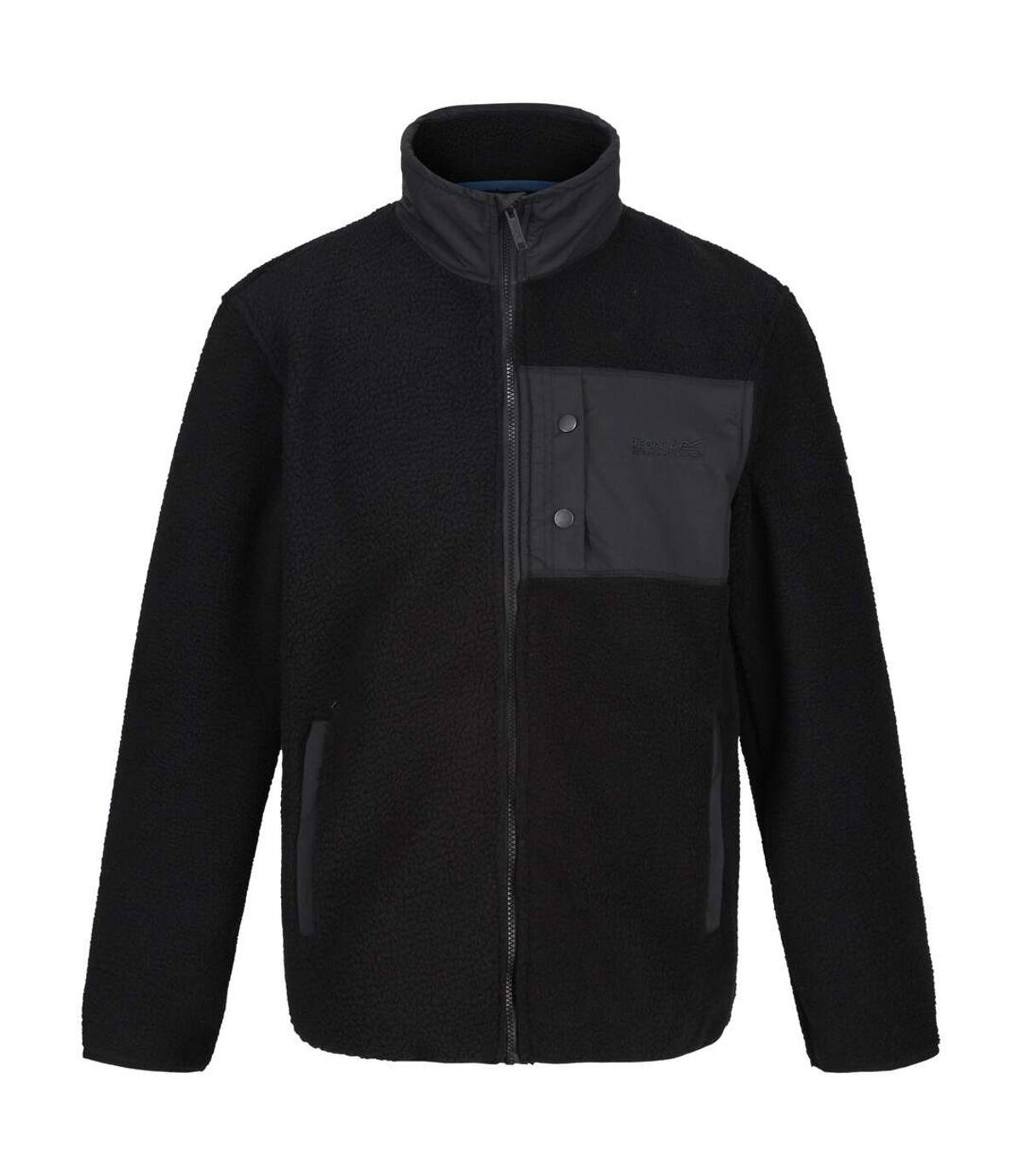 Regatta Mens Cayo Heavyweight Full Zip Fleece Jacket (Black/Black) - UTRG4599